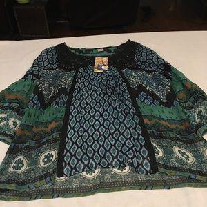Georgette material paisley top